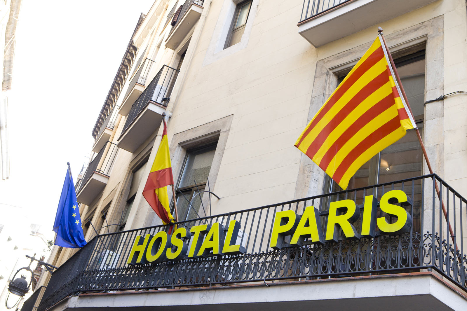 Photos hostal paris barcelona center official site for Hotel de paris barcelona